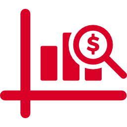 Icon of a financial graph