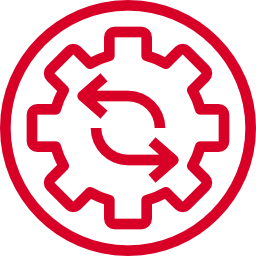 Icon of gears moving